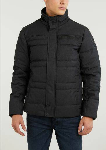HOODED JACKET MELANGE TWILL LIFTMA