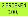 2 NONDENIM 100
